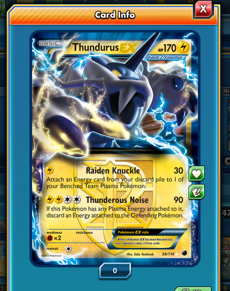 Team Plasma's Thundurus can really improve the speed of your electric decks.